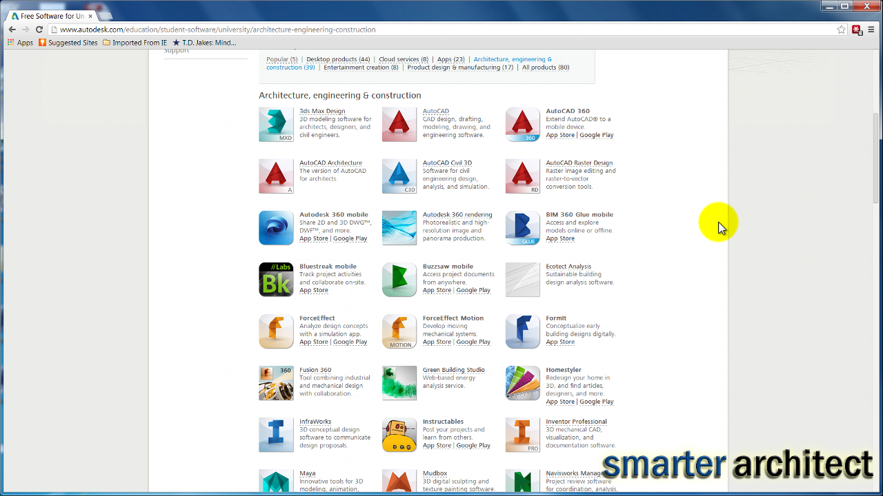 autodesk free software download for students